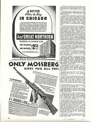 1939 MOSSBERG Model 46B .22 RIFLE Partial-page AD
