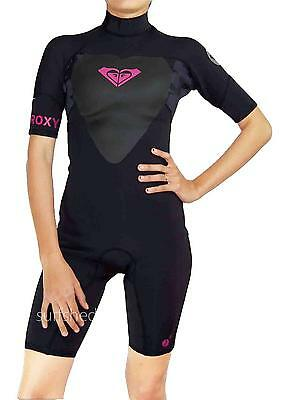 Roxy SYNCRO 2x2 Springsuit Flatlock BACK ZIP Wetsuit Spring Suit Womens Size 4