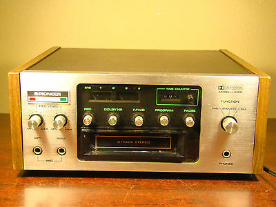 Vintage PIONEER H-R100 8 TRACK PLAYER RECORDER 8-TRACK 8TRACK HR100 H R100 DOLBY