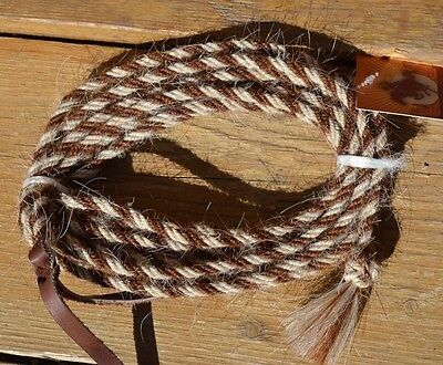 "Jose Ortiz 1/4"" Mane Hair 16' Get Down Rope - 4 Strand - Chestnut & White"