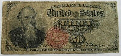 1863 Edwin Stanton 50c Fractional Currency Fourth Issue Fr1376 Allison & Spinner