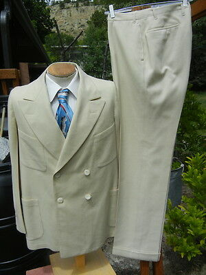 Vintage 1920s WHITE Double Breasted Suit Alterable - DATED 1929 Gatsby, Twain