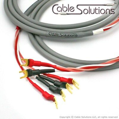 Canare 4S8 Star Quad Bi-Wire Speaker Cables 3m, Vampire Wire Terminations