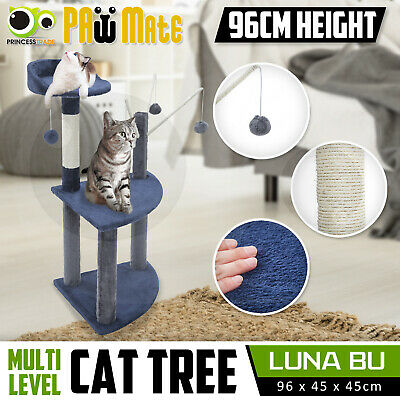 Cat Tree Scratching Post Scratcher Pole Gym House Furniture Multi Level 95cm BU