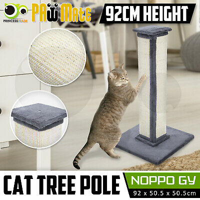 Cat Tree Scratching Post Scratcher Pole Gym House Furniture Multi Level 92cm GY