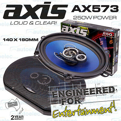 """Axis 5 X 7 Inch 140 X 190Mm Flush Coaxial 3 Way Car Stereo Speakers 5 X 7"""" Ax573"""