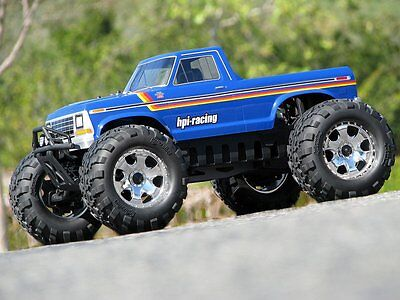 HPI 1/8 Savage 1979 Ford F-150 Monster Truck Clear Body Shell #105127 OZ RC