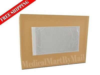 "Clear Packing List Envelopes Plain Face 5 1/2"" x 10"" Self Seal Pouch 5000 5.5x10"