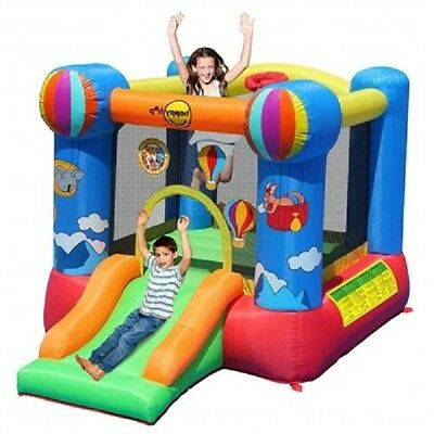 Hot Air Balloon Jumping Castle Slide & Basket Ball Hoop ..Outdoor Fun