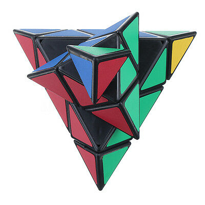 Pyramid Style 3x3x3 Magic Cube Rubik Puzzle Twist Speed Game Smooth Toy Kid Gift