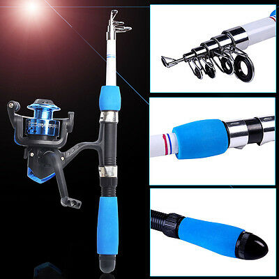 Mini Portable Fishing Rod with Reel Travel Fishing Combos Kits Telescopic Sets