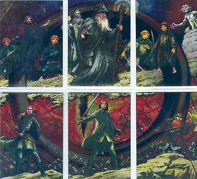 Lord Of The Rings Masterpieces I Complete Kayanan Etched Foil Chase Card Set 1-6