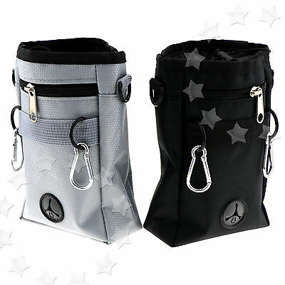 Gray/Black Puppy Pet Dog Obedience Training Treat Pouch Bag Feed Bait Snack Belt