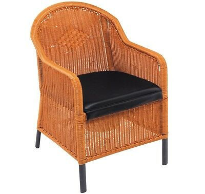 Drive Medical Traditional Wicker Commode with Vinyl Waterproof Cushion