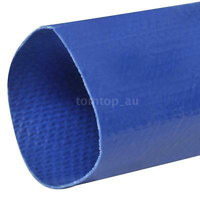 """New 50 m 1"""" PVC Flat Water Delivery Hose Discharge Pipe Pump Lay Flat Blue Q6N4"""