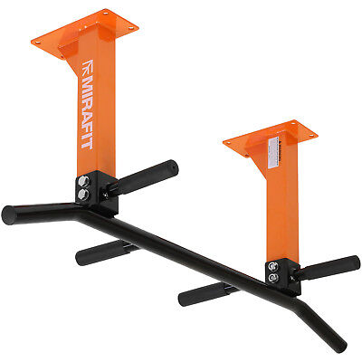 MIRAFIT Orange 3 Position Ceiling Mount Pull/Chin Up Bar Home Workout/Chinning