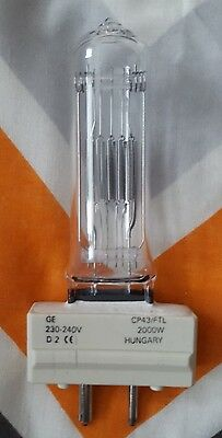 GE CP43 240V 2000W FTL GY16 LAMP Theatre Stage Light Bulb (CP72 / CP79)