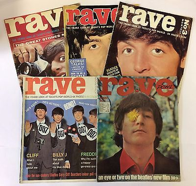 Beatles Collection of 64/65 Rave Magazines No. 1 Lennon McCartney Harrison Starr
