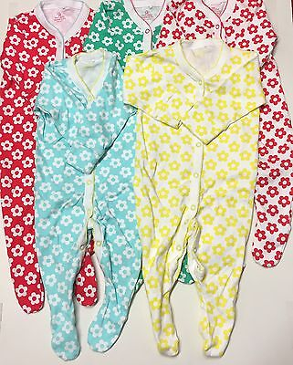 Baby Girls Set Of 5 Sleepsuits.Aged 3-6 Months.From NEXT.!Nightwear..
