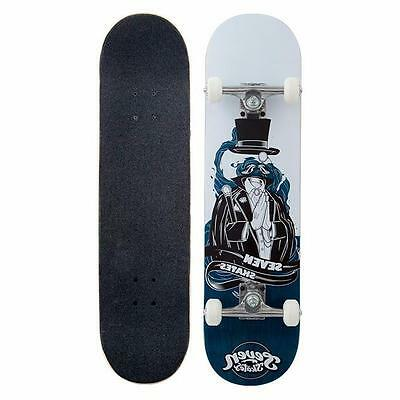 """Seven Complete Skateboard Invisible Man 7.8"""" FREE POST"""