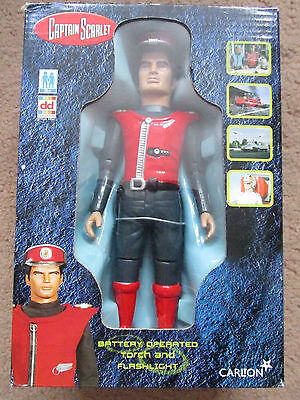 Captain Scarlet Action Figure Mib New Boxed Carlton Mysterons Dd + Torch No Batt