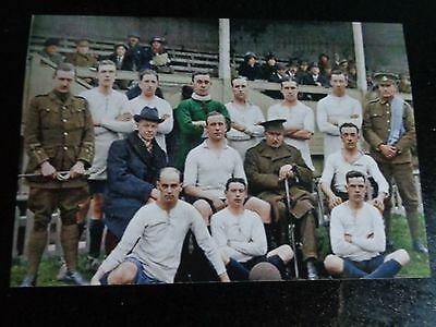 "CLAPTON ORIENT  Football team  1914  ??   6""x4"" Reprint"