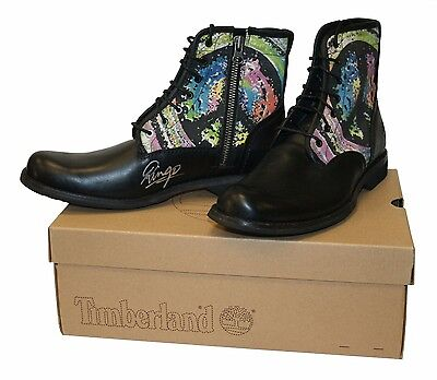 Ringo Starr Signed WaterAid Timberland Earthkeeper Boots
