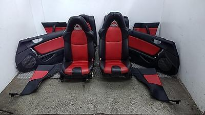 2003-2008 MAZDA RX8 4 Dr Coupe Red + Black Leather Interior Seats + Door Cards