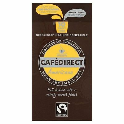 Cafedirect Colombian Nespresso Americano Coffee Capsules 10 per pack