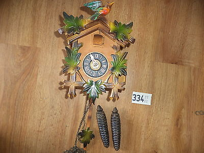 Vintage Carved Wooden Cuckoo Clock