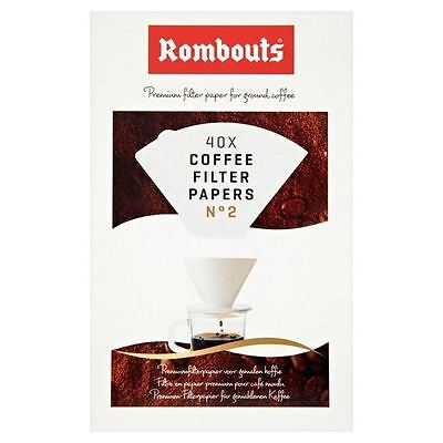 Rombouts Coffee Filter Papers N2 40 per pack