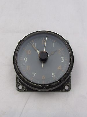 Ww2 Raf Aircraft Cockpit Clock Air Ministry One Day 6A/1002 Mkii A Working Order