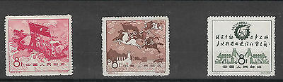 "P R China 1958 MNH set ""National Exhibition of industry and Communications"""