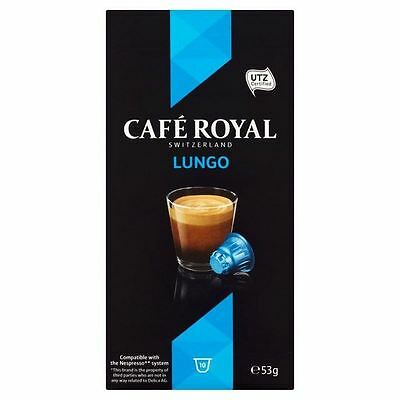 Cafe Royal Lungo Nespresso Compatible Coffee Pods 10 per pack
