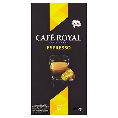 Cafe Royal Espresso Nespresso Compatible Coffee Pods 10 per pack