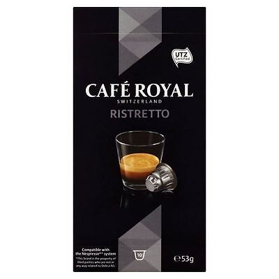 Cafe Royal Ristretto Nespresso Compatible Coffee Pods 10 per pack