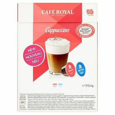 Cafe Royal Cappuccino Dolce Gusto Compatible Coffee Pods 8 per pack
