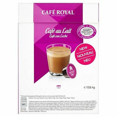 Cafe Royal Cafe au Lait Dolce Gusto Compatible Coffee Pods 16 per pack