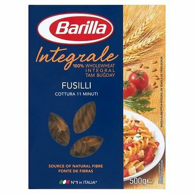 Barilla Whole Wheat Fusilli 500g