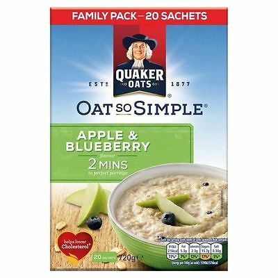 Quaker Oat So Simple Family Pack Apple & Blueberry 20 x 36g