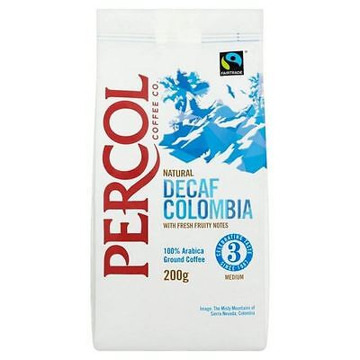 Percol Fairtrade Decaffeinated Colombia Ground Coffee 200g