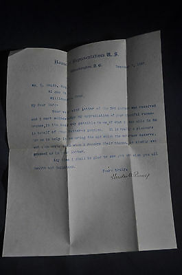 1897 *SIGNED*  Connecticut Representative Charles A Russell on Letterhead