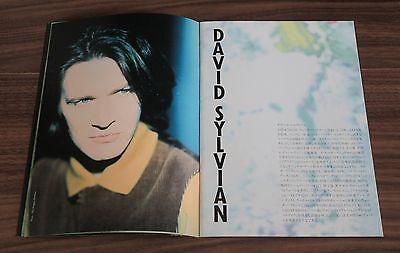 David Sylvian JAPANESE tour book THE FIRST DAY Robert Fripp KING CRIMSON