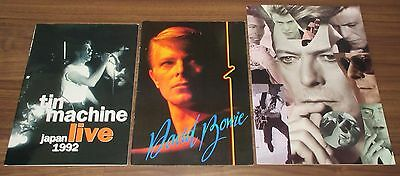 3 x SET David Bowie JAPAN tour book CONCERT PROGRAM job lot 1978 etc MORE LISTED