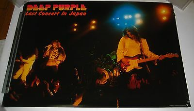 DEEP PURPLE rare JAPAN original PROMO ONLY POSTER 1976 big 84x59 cm WARNER PIONE