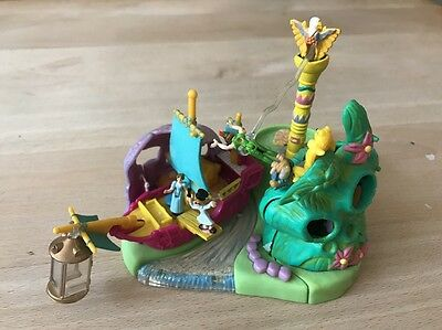 Vintage Polly Pocket Disney Neverland Playset Peter Pan 1997