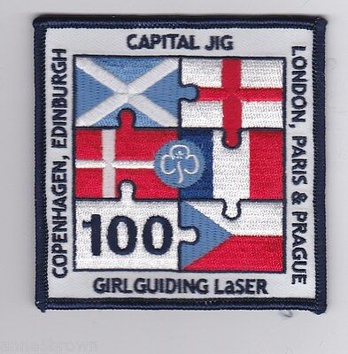 2010 Girlguiding Centenary ~ Laser Capital Jig Event, Very Large Mint Badge