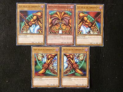 Yu-Gi-Oh Ldk2 Exodia The Forbidden One 5 Card Set Mint