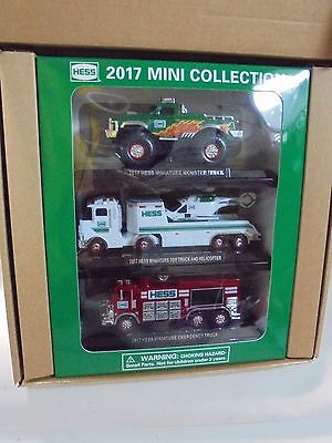 2017 Hess Mini Collection Monster Toy Helicopter Emergency Truck 3 Pack