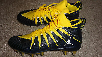 Nike/Jordan Alpha Menace Elite Football Cleats 877141-714 Maize/Blue